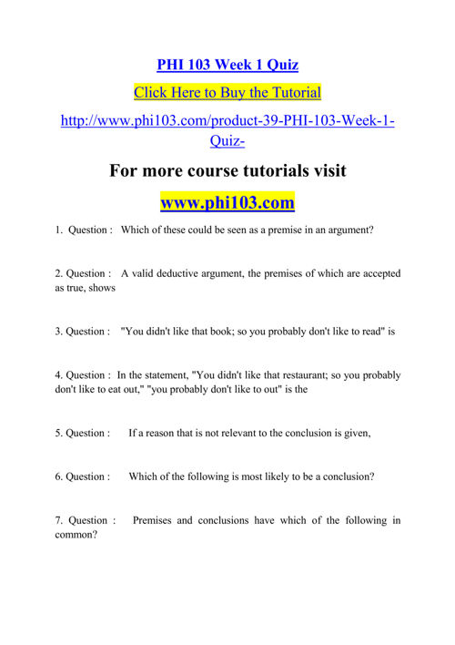 """phi 103 media quiz Phi 103 week 4 quiz new 2016 according to chapter 8, why is it called the """"media"""" phi 103 phi103 quiz answers $1499."""