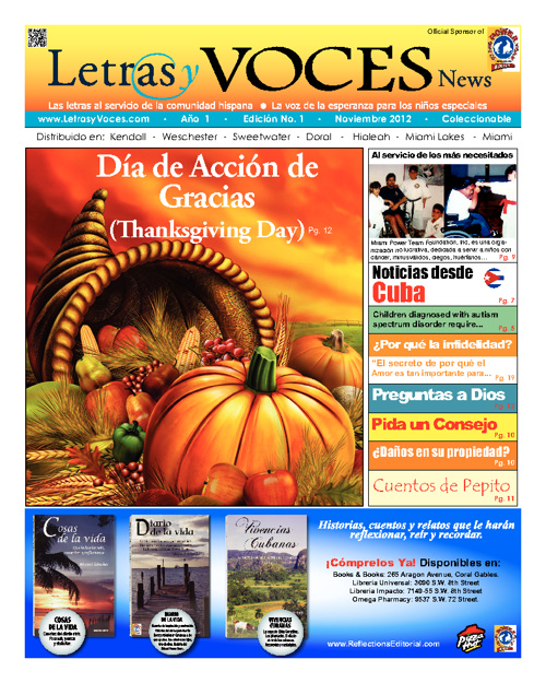 Letras y Voces News | November 2012 Edition No.1