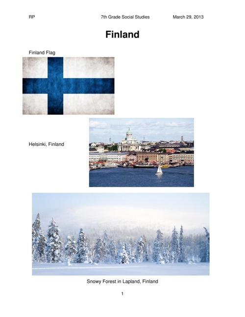FinlandProject 3