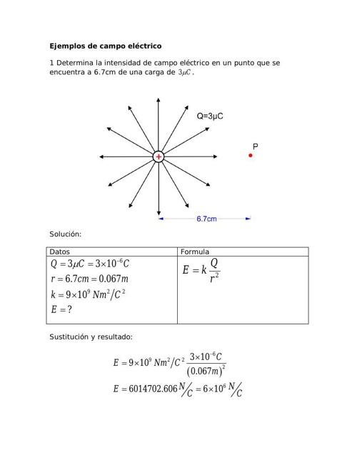 Ejemplos de problemas con campo y flujo eléctrico
