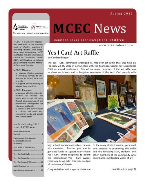 MCEC News Spring 2012