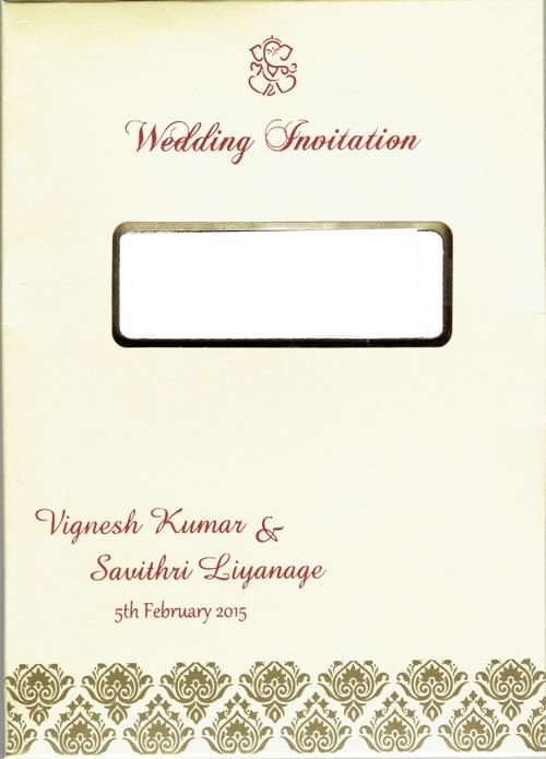 Vignesh-Savithri Wedding Invite