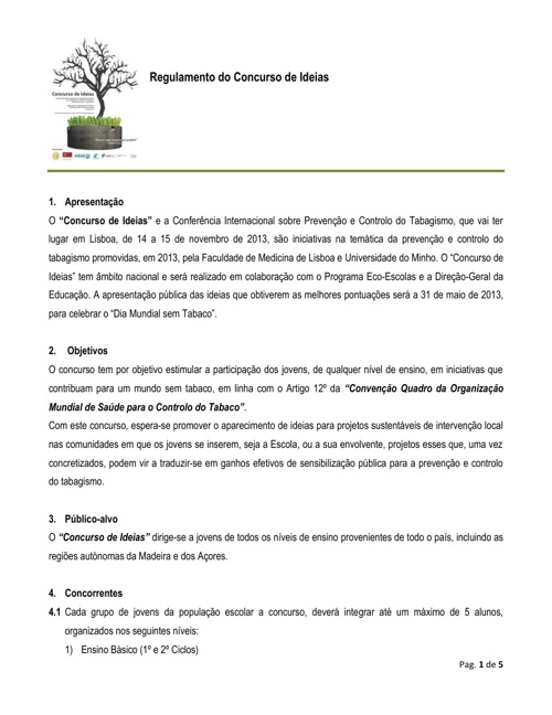 regulamento concurso eco-escolas
