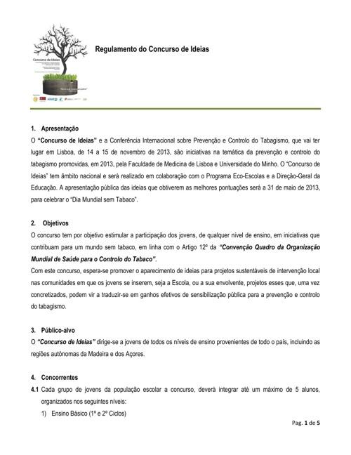 regulamento concurso eco-escolas