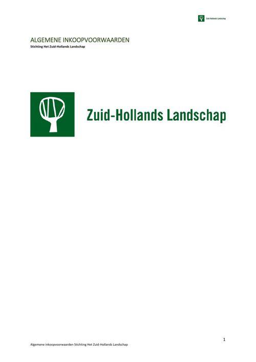 Algemene inkoopvoorwaarden | Zuid-Hollands Landschap