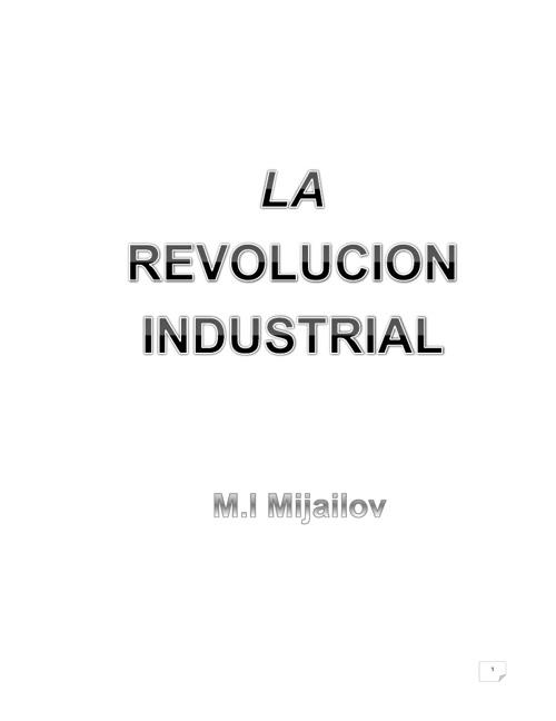 LA REVOLUCIÓN INDUSTRIAL     karen peña