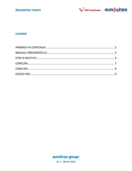Eurolines Group - Newsletter intern Martie 2013