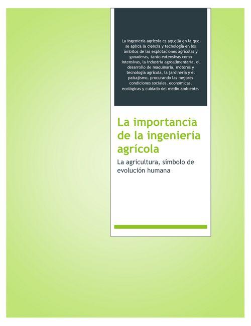 La importancia de la ingeniería agrícola en el siglo XXI