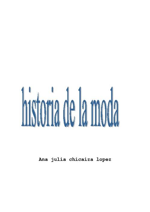 libro de historia de la moda