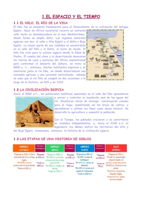 EGIPTO: TEMA 9