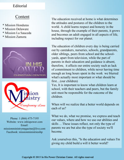 Mission Ministry Magazine -  Seventh Special Edition