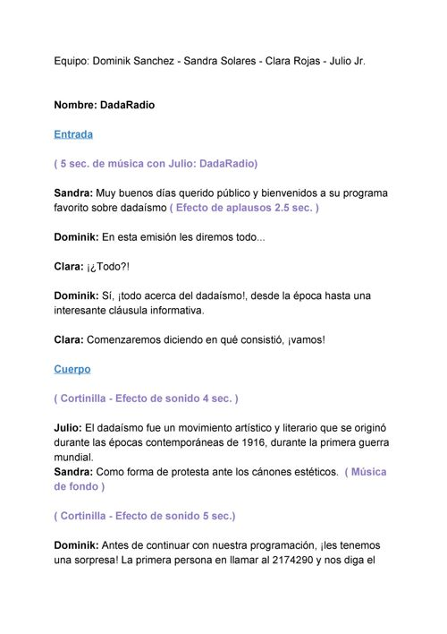 Guion de Radio - DadaRadio (1)