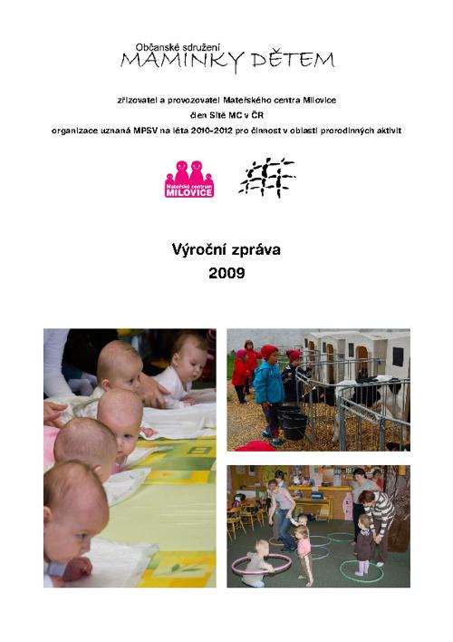 Výroční zpráva za rok 2009