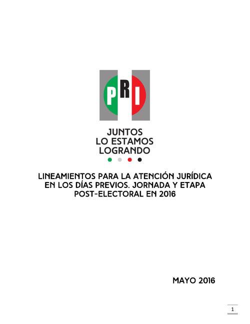 LINEAMIENTOS PARA LA ATENCIÓN JURÍDICA EN LOS DÍAS PREVIOS, JORN