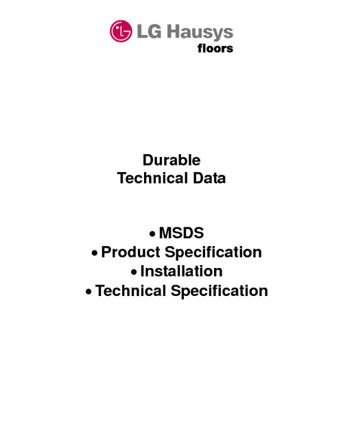 Durable Technical Data