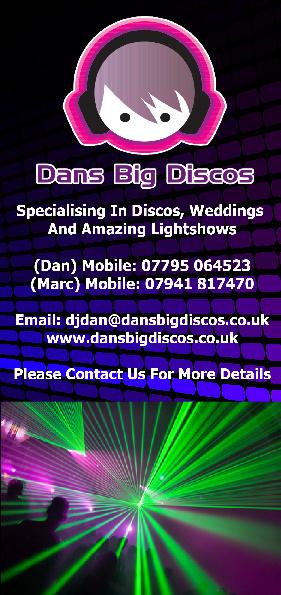 Dans Big Discos Entertainment Leaflet