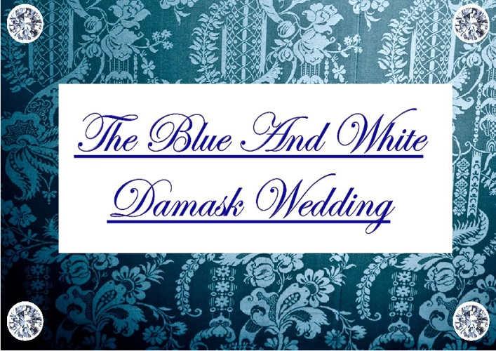 Blue & White Damask Wedding