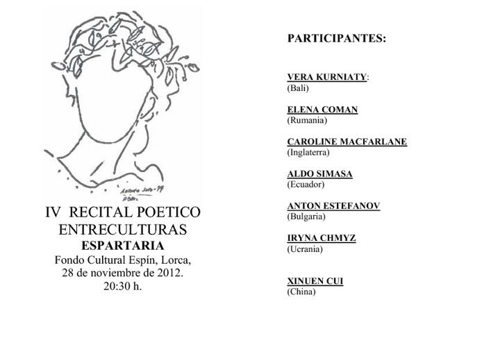 IV Recital Poético Entreculturas