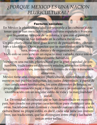 MEXICO COMO PAIS PLURICULTURAL