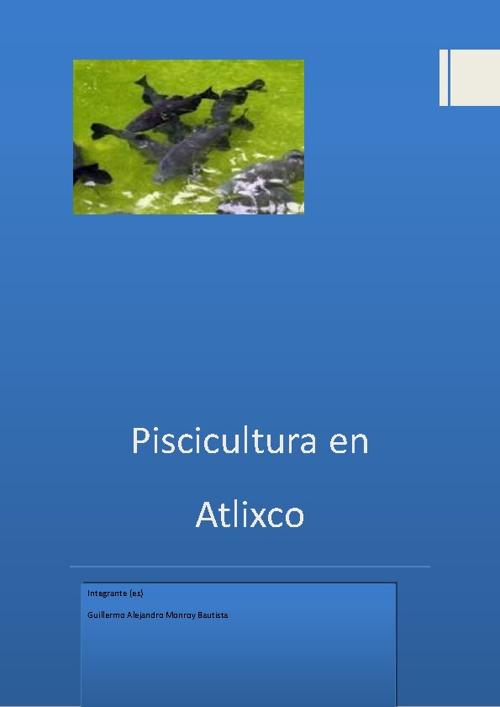 Piscicultura en Atlixco