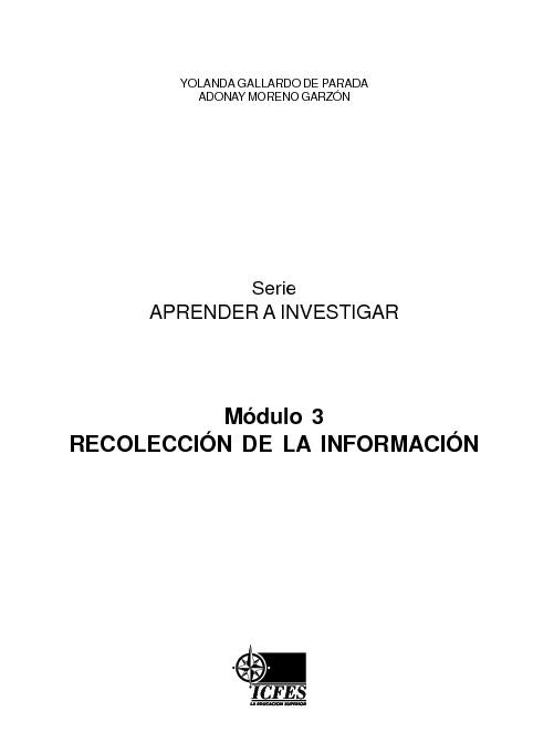 RECOLECCIÓN DE LA INFORMACIÓN-ICFES