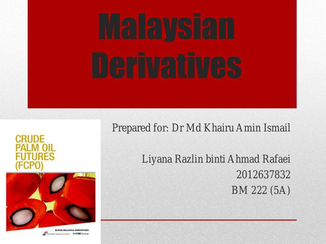 MALAYSIAN DERIVATIVES P1