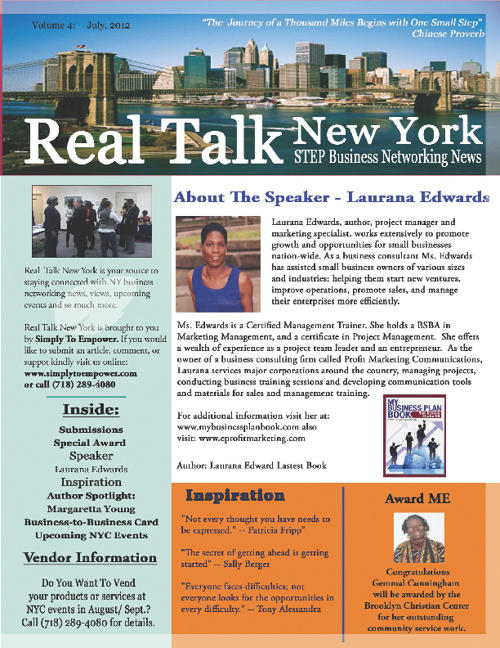 Real Talk New York - STEP Business Networking News