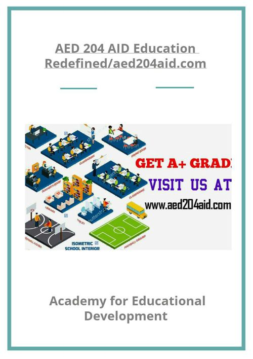 AED 204 AID Education Redefined/aed204aid.com