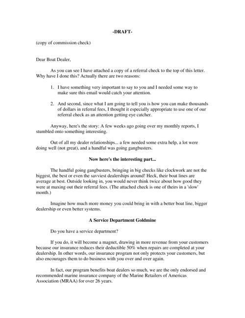 Prospect Mailer 2012