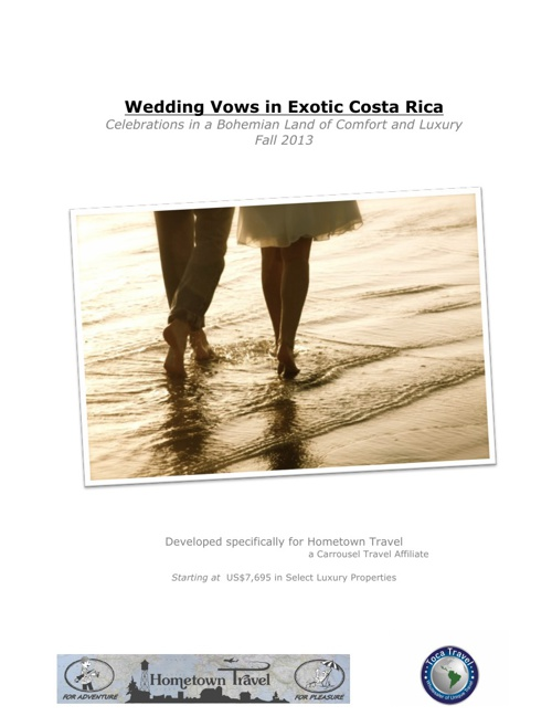 Costa Rica Wedding Vows - Sample