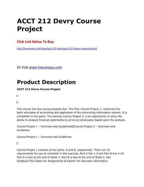 acct 212 course project 2