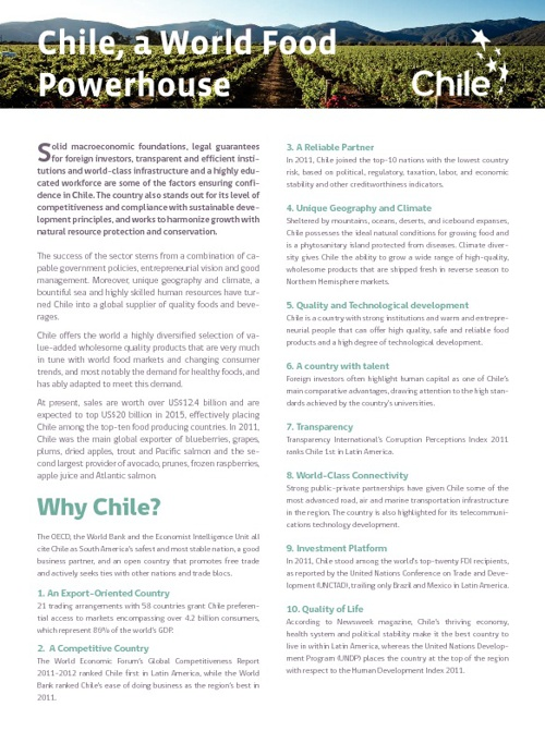 Chile, a world food powerhouse