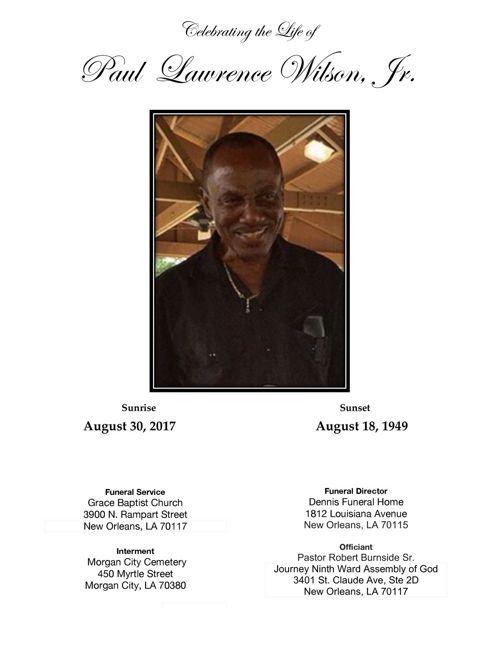 Paul Wilson's Obituary