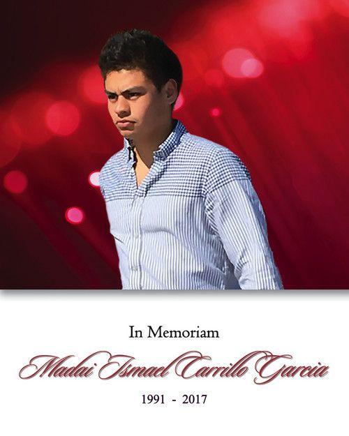 Memorial Card for Madai Carrillo