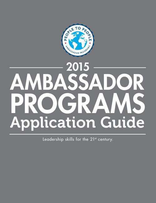 2015 Leadership Ambassador Application Guide