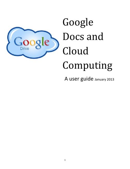 Google docs and cloud computing