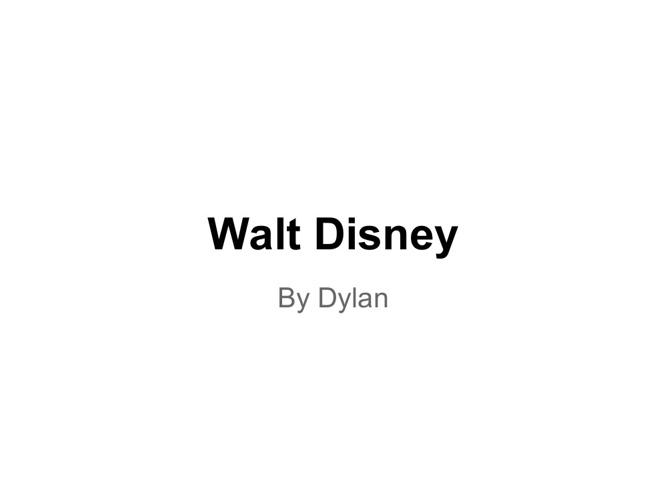 Dylan's Walt Disney Flip Book