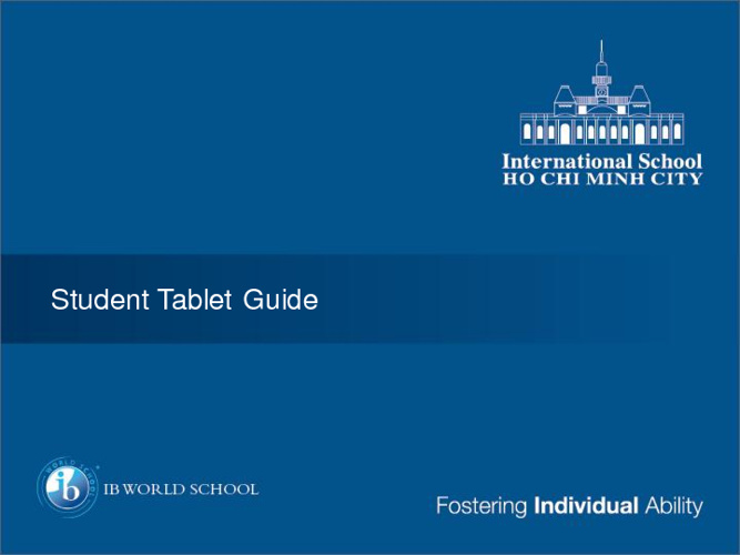 Student Tablet Guide