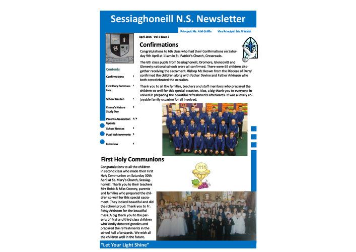 April Newsletter 2016