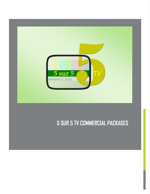 5 SUR 5 ADVERTISING PACKAGES