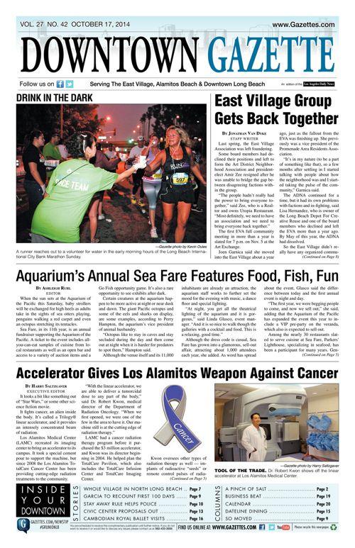 Downtown Gazette     October 17, 2014