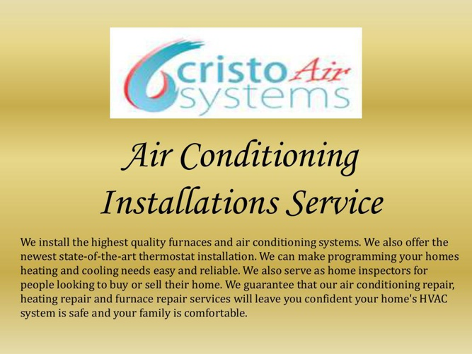 Air Conditioning Installations Service