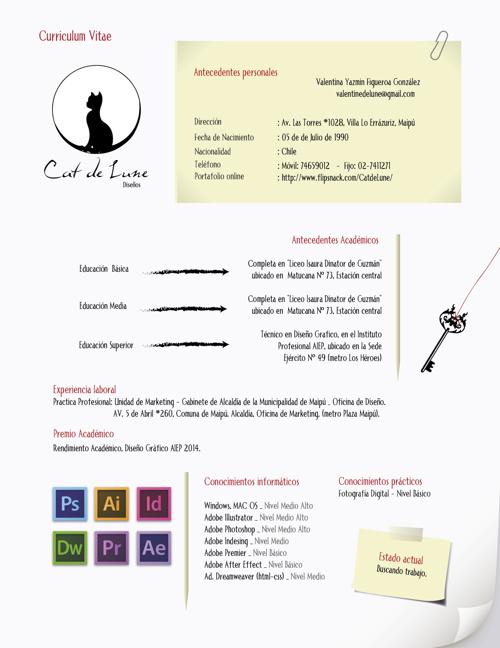 Curriculum Vitae Valentina Figueroa - DiseñoGráfico