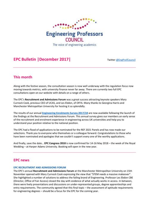 Engineering Professors' Council infoDigest 18 dec 17