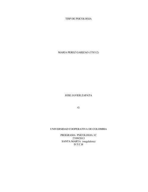 TISP DE PSICOLOGIA