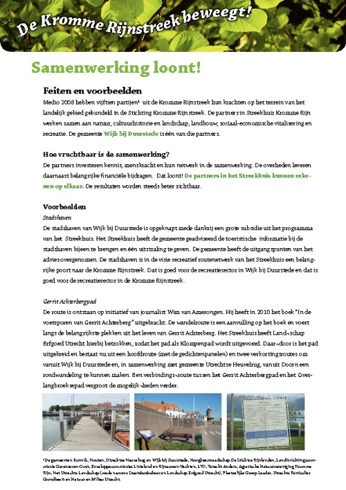Streekhuis Krommerijn - Factsheet