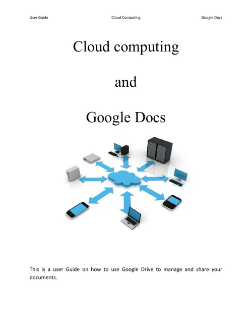 Google Drive and Cloud Computing