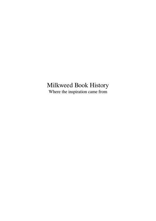 Milkweed Book History