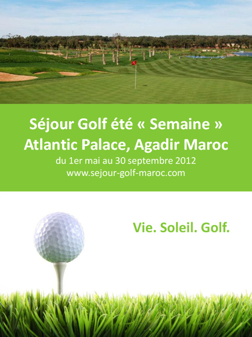 Sejour Golf été Semaine au Maroc