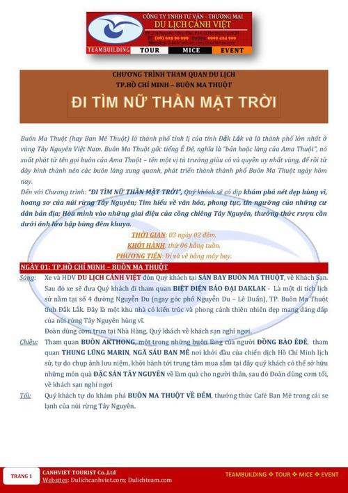 BUON MA THUOT-3N2D-MAYBAY